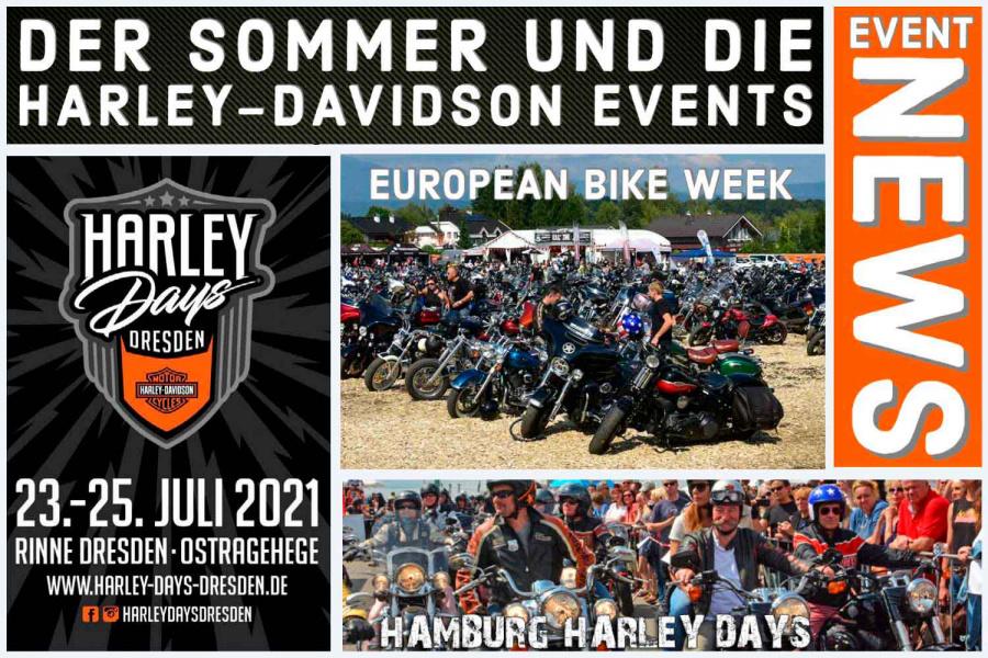 Der Sommer und die Harley-Davidson Events
