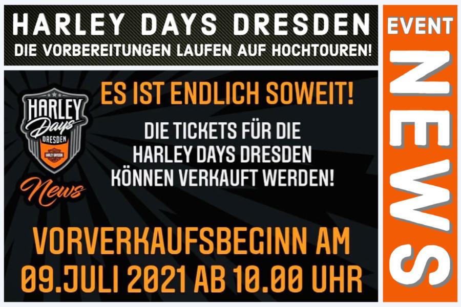 Neues zu den Harley Days Dresden 2021