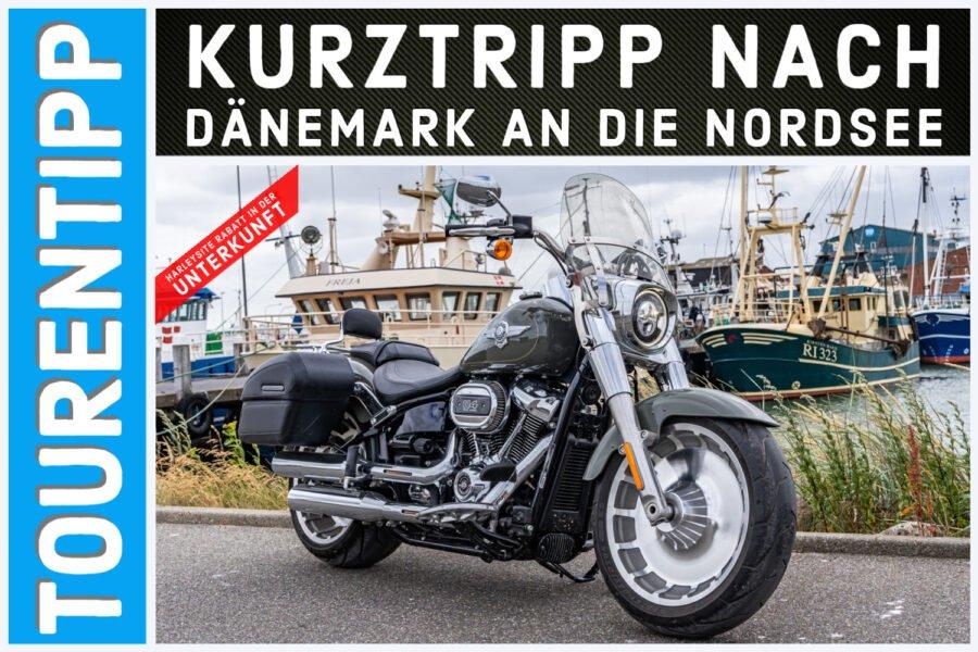 Einfach mal auf Tour mit der Harley-Davidson Fat Boy 2021 und das dänische Hygge leben