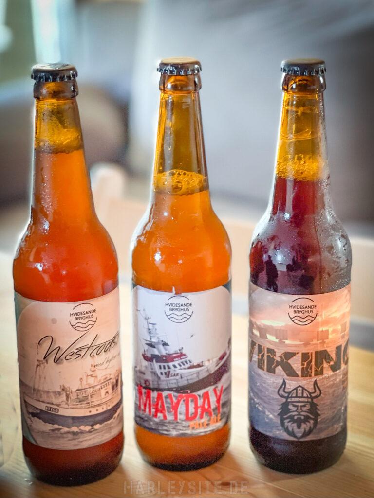 Das lokale dänische Bier