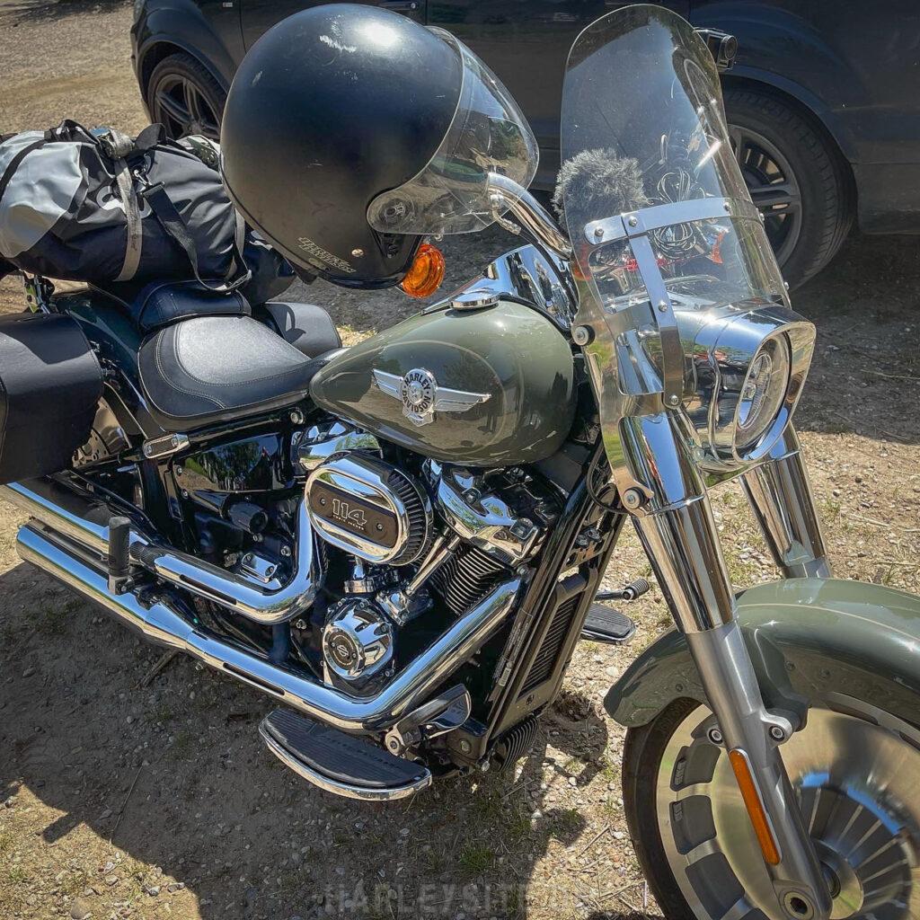 Die Harley-Davidson Fat Boy ist fertig für die Tour nach Dänemark