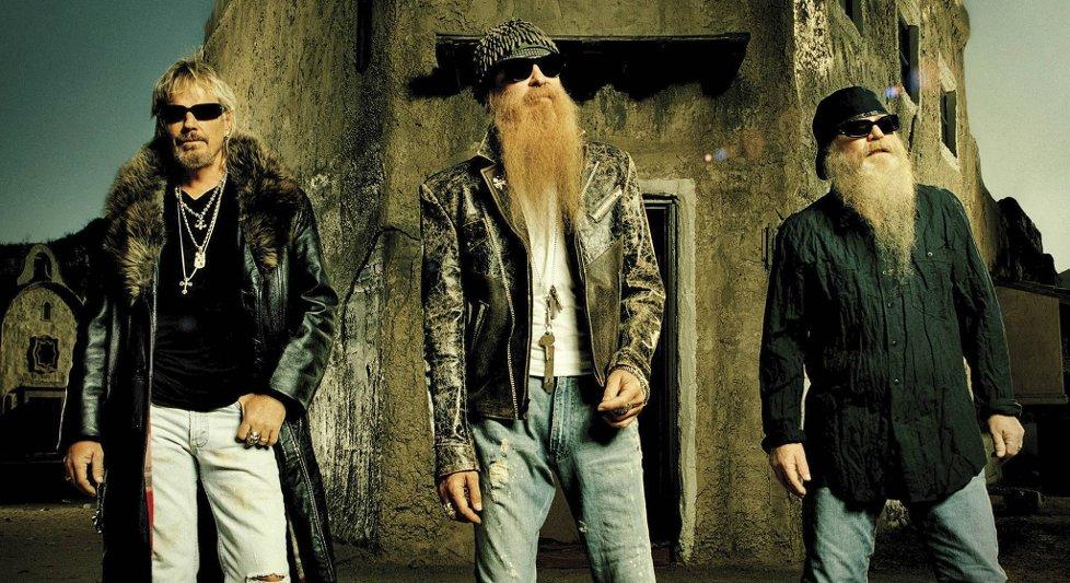 ZZ TOP Rockband v.l. Frank Beard, Billy Gibbons, Dusty Hill