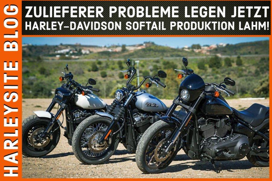 Zulieferer Probleme legen jetzt Harley-Davidson Softail 2021 Produktion lahm!