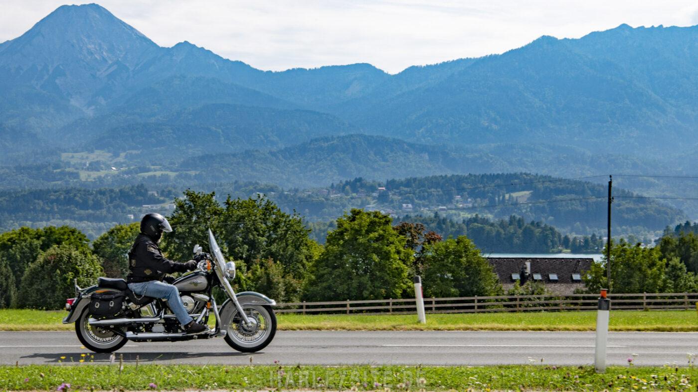 Harley-Davidson Biker am Faaker See