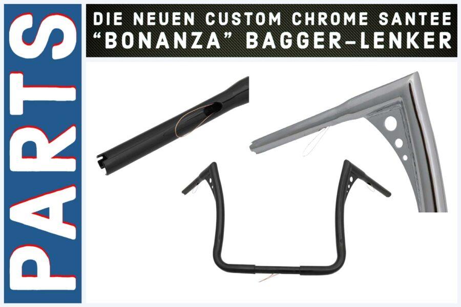 """Batwing Apehanger"" mit Stil: Die neuen Santee ""Bonanza"" Bagger-Lenker"